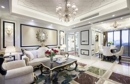 现代简欧客厅装修