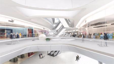 现代购物中心照片概念