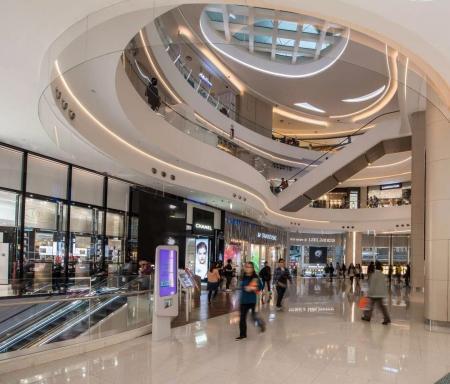 现代风格购物中心照片概念
