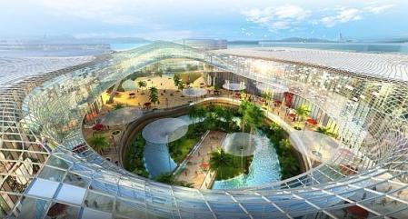 未来风格商场照片设计图片