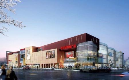 未来风格商场照片概念