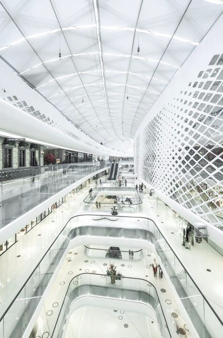 漂亮的购物中心照片概念