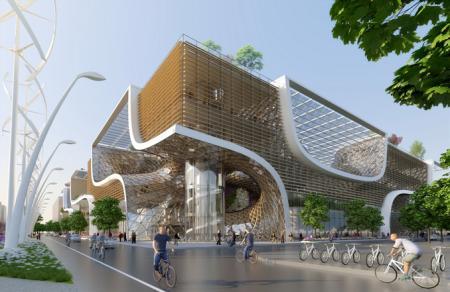 现代感购物中心设计灵感来源