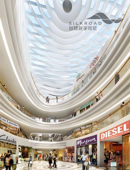 现代感商场设计灵感来源
