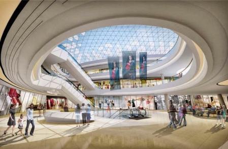 现代感购物中心照片概念