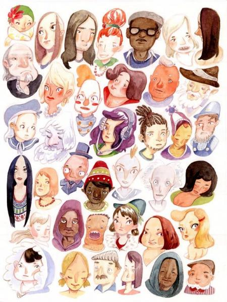 经典的女性卡通角色