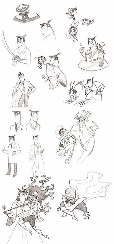 手绘漂亮的卡通人物参考