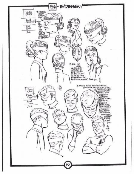 手绘漂亮的卡通形象手稿
