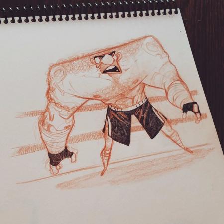 手绘很酷的卡通人物参考