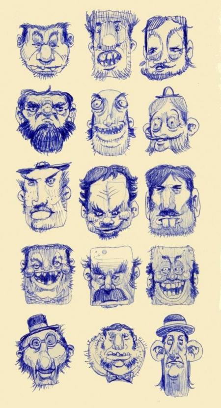 手绘很酷的卡通人物大全