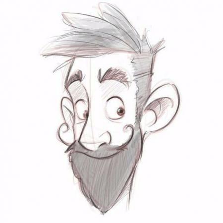 手绘很酷的卡通形象角色参考