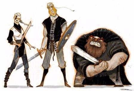 手绘很酷的卡通形象角色灵感来源