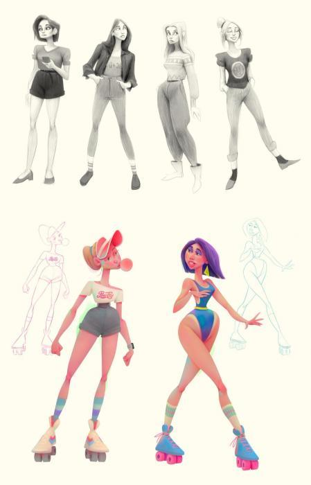 手绘很酷的characterdesign