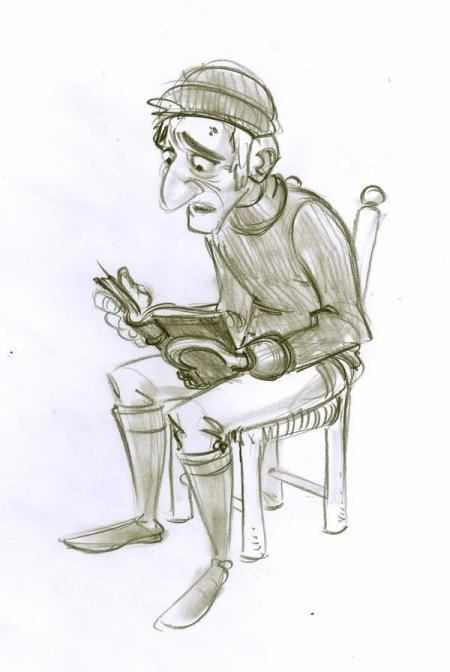 手绘可爱的Cartoon手稿