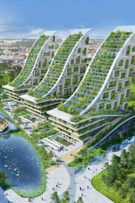设计效果国 未来建筑