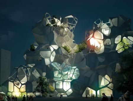 高端未来建筑设计设计图