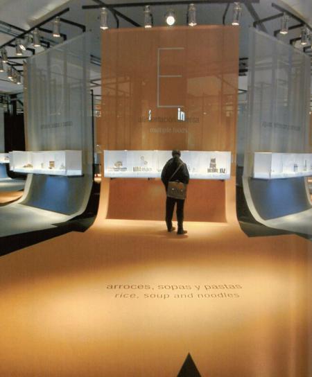 流行展示厅手绘图片