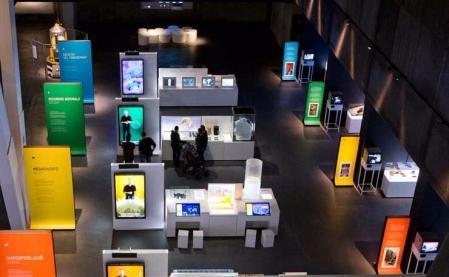 国外流行科技展厅图案