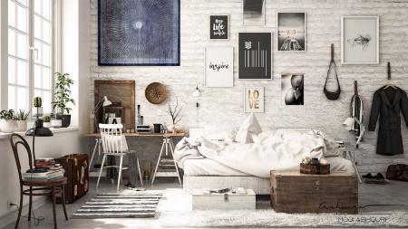 高端公寓设计 图库