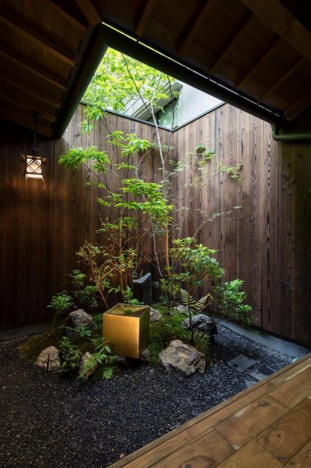 庭院的样板房