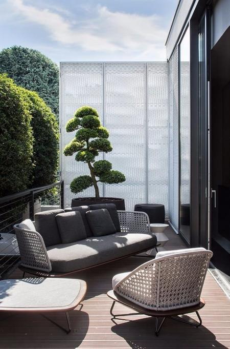 流行庭院设计 图库