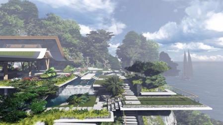 高端别墅景观的装潢效果图