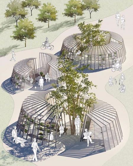 创意广场景观效果图 设计