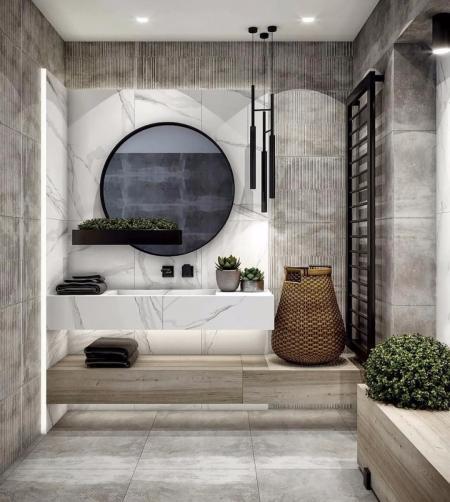 特色洗手间装潢效果图