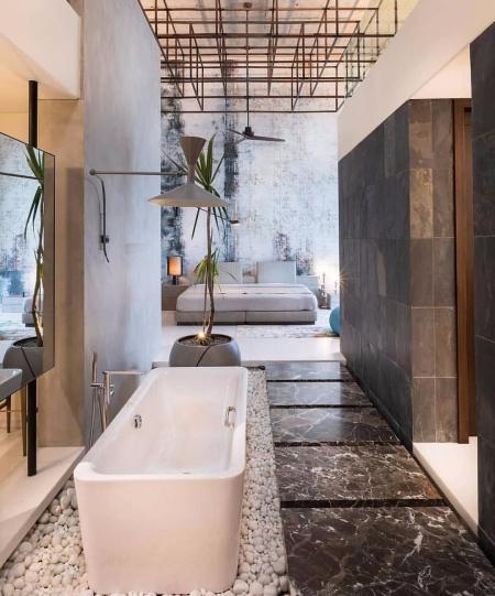 高端洗手间的样板间