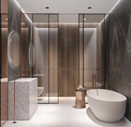 高端洗手间的装饰 设计