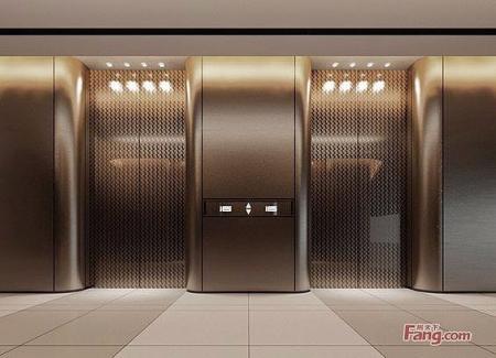 电梯厅设计 图库