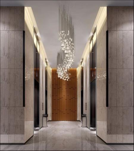 电梯厅设计 图纸