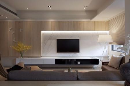 小清新客厅设计设计图