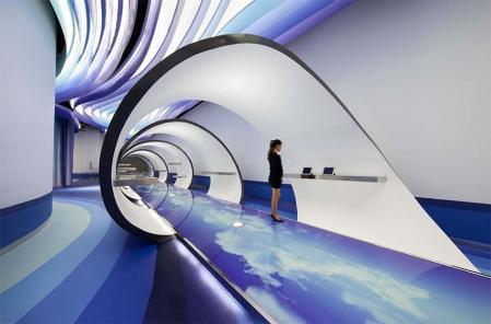 展厅设计,展示设计曲线,