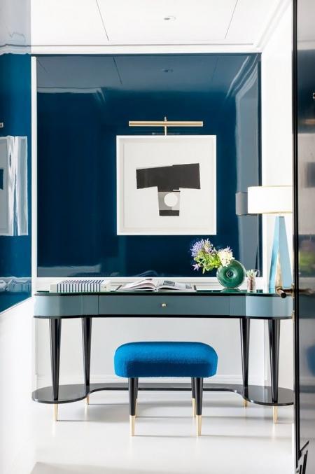 卧室,蓝色,