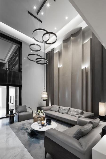 客厅设计,现代客厅,餐饮,