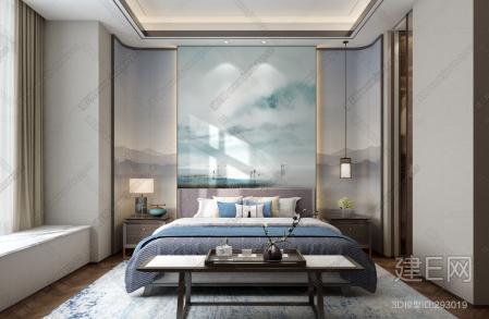 中式卧室,