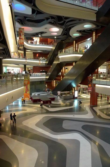 未来风格购物中心概念
