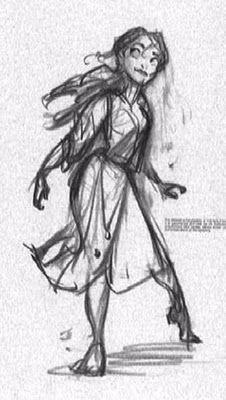 手绘漂亮的角色参考图片