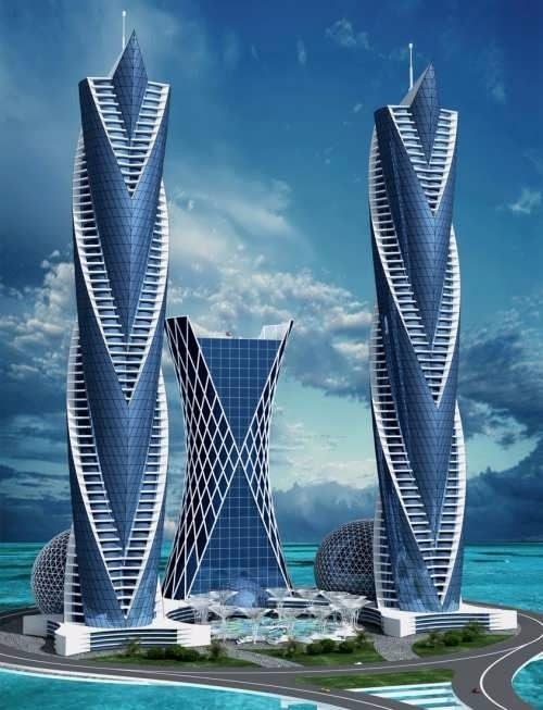 未来建筑高清图 设计