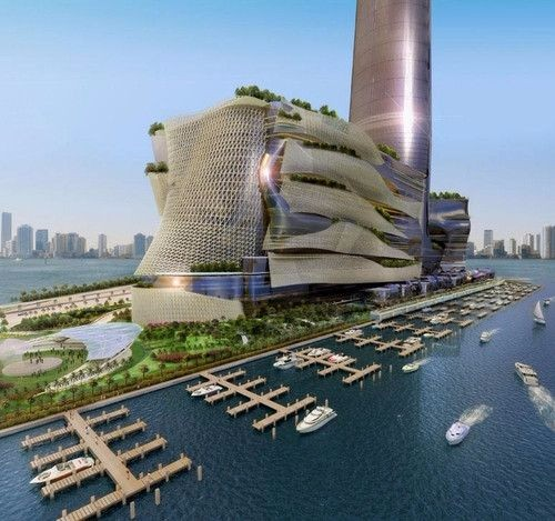 未来建筑 效果图 设计