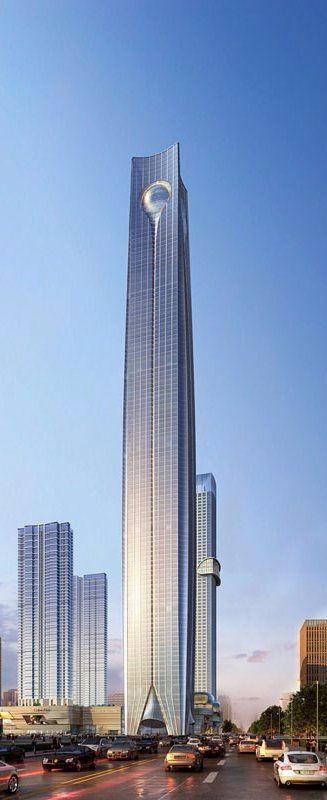 高端未来建筑图设计设计