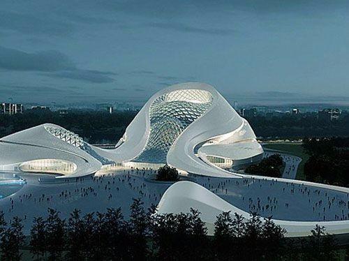 高端未来建筑图库 设计