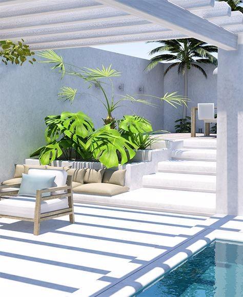 流行庭院的装修效果图