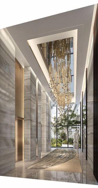 酒店大堂设计 图库