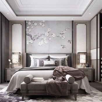 特色卧室素材设计