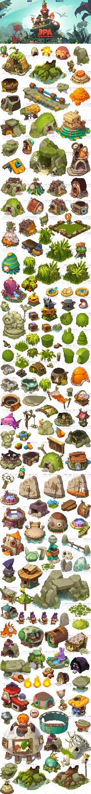 小清新游戏素材设计 图库
