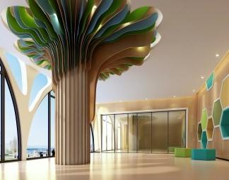 室内设计,树,3D模型,树造型,