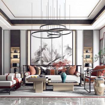 客厅模型,