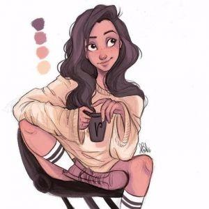 手绘漂亮的character设计图片